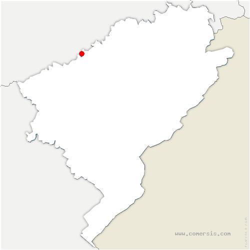 carte de localisation de Thurey-le-Mont