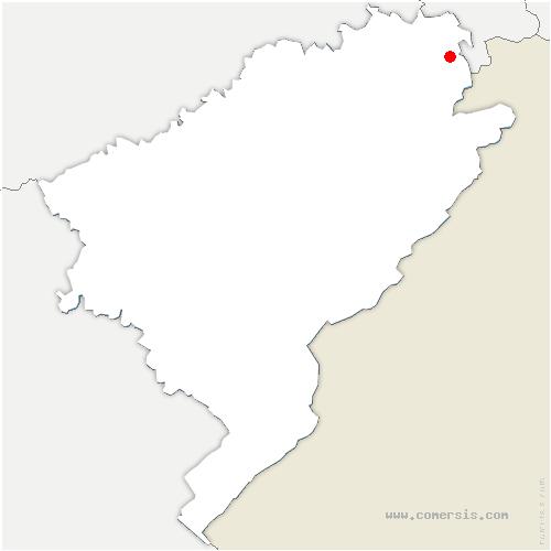 carte de localisation de Vandoncourt