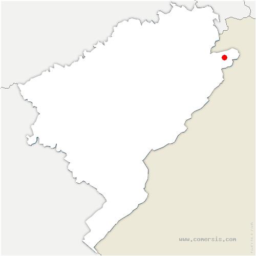 carte de localisation de Vaufrey