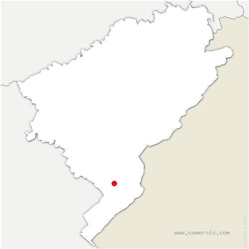 carte de localisation de Vaux-et-Chantegrue