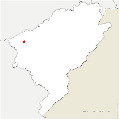carte de localisation de Vaux-les-Prés