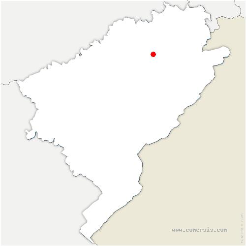 carte de localisation de Vellerot-lès-Belvoir