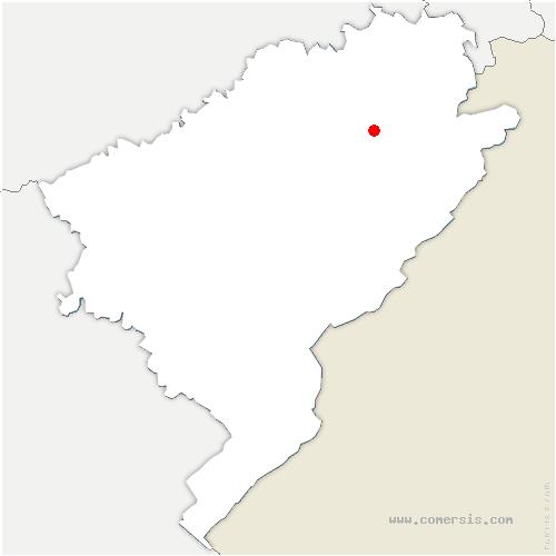 carte de localisation de Vernois-lès-Belvoir