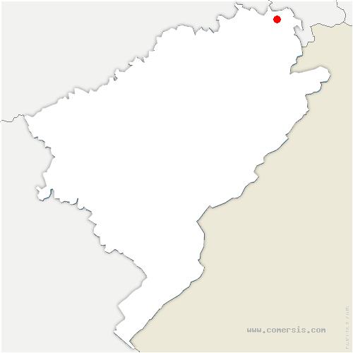 carte de localisation de Vieux-Charmont