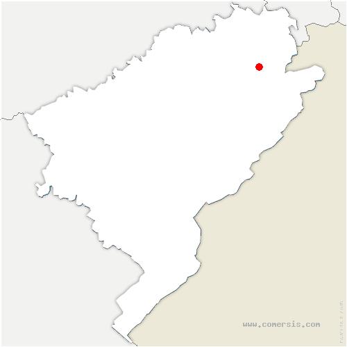 carte de localisation de Villars-sous-Dampjoux