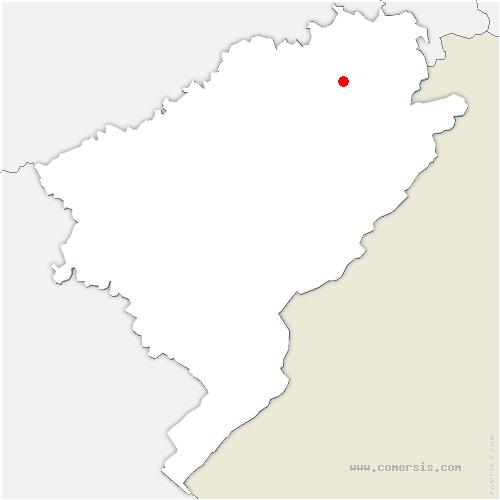 carte de localisation de Villars-sous-Écot