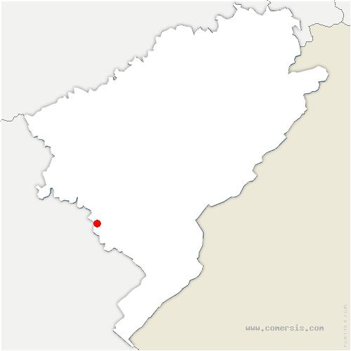 carte de localisation de Villeneuve-d'Amont