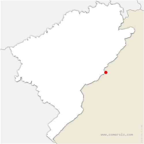 carte de localisation de Villers-le-Lac
