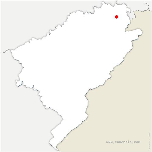 carte de localisation de Voujeaucourt