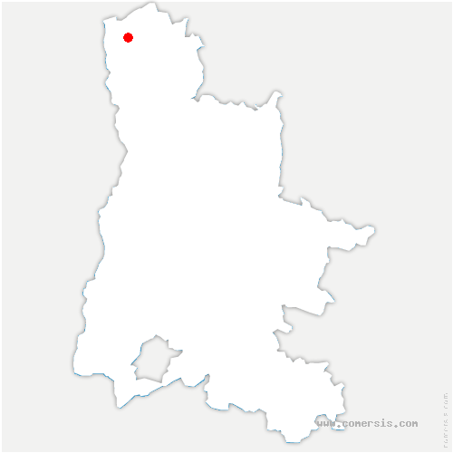 carte de localisation de Albon