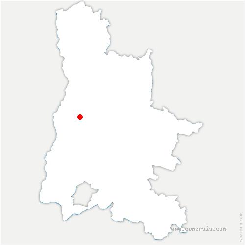 carte de localisation de Allex