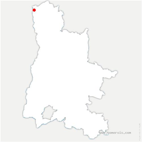 carte de localisation de Andancette