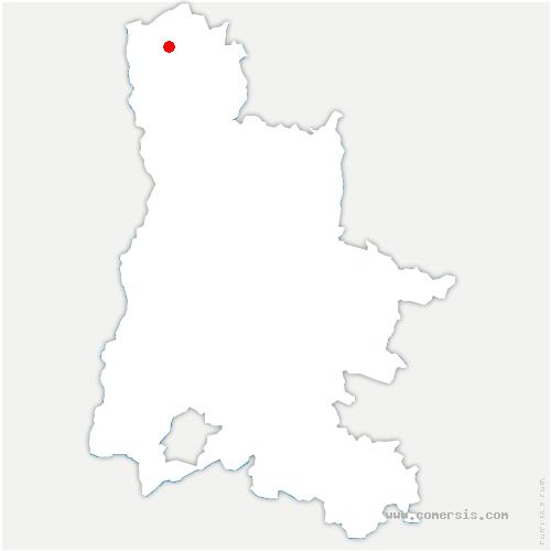 carte de localisation de Anneyron