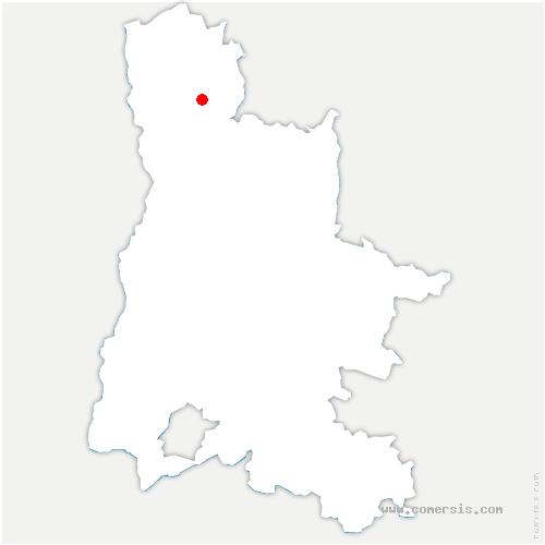 carte de localisation de Arthémonay