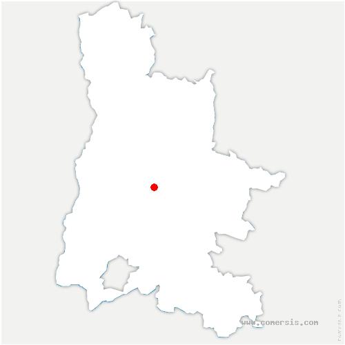 carte de localisation de Aubenasson