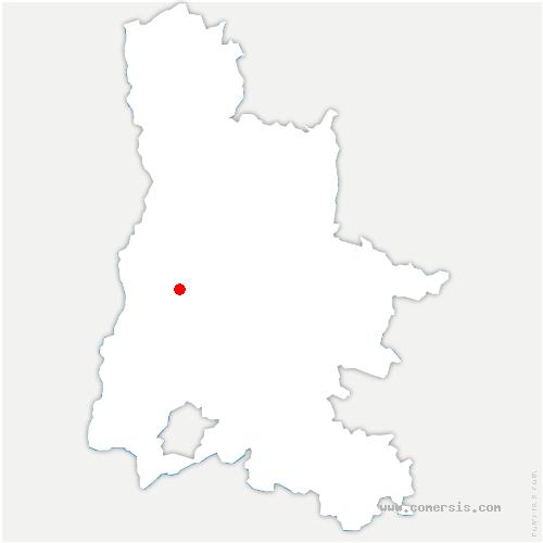 carte de localisation de Autichamp