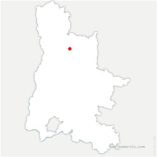 carte de localisation de Barbières