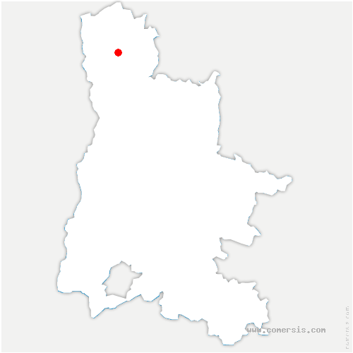 carte de localisation de Bathernay