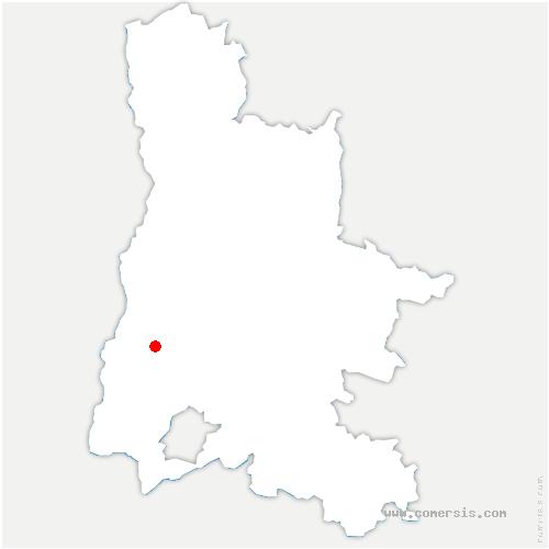 carte de localisation de Bâtie-Rolland