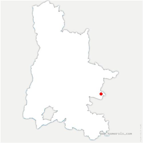 carte de localisation de Bâtie-des-Fonds