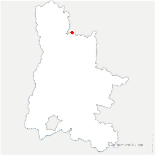 carte de localisation de Baume-d'Hostun