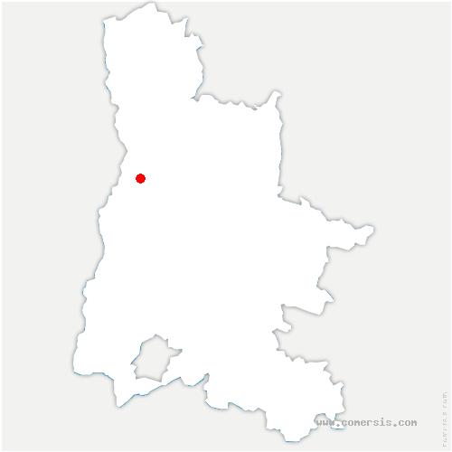 carte de localisation de Beaumont-lès-Valence