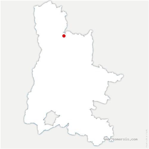 carte de localisation de Beauregard-Baret