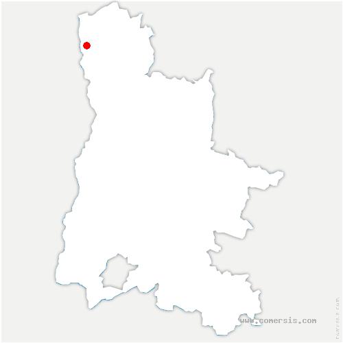 carte de localisation de Beausemblant
