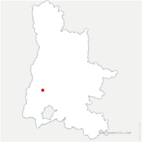carte de localisation de Bégude-de-Mazenc