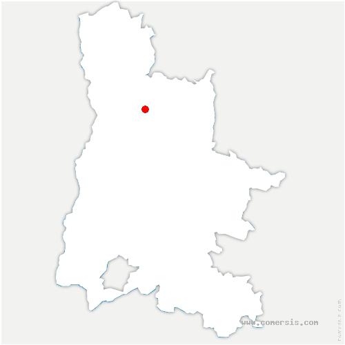 carte de localisation de Bésayes