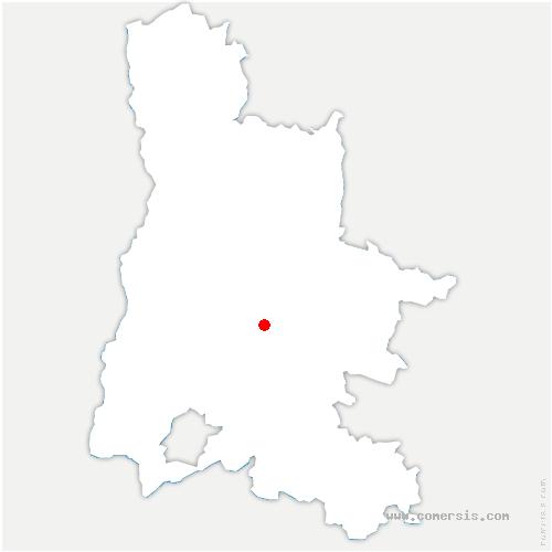 carte de localisation de Bézaudun-sur-Bîne