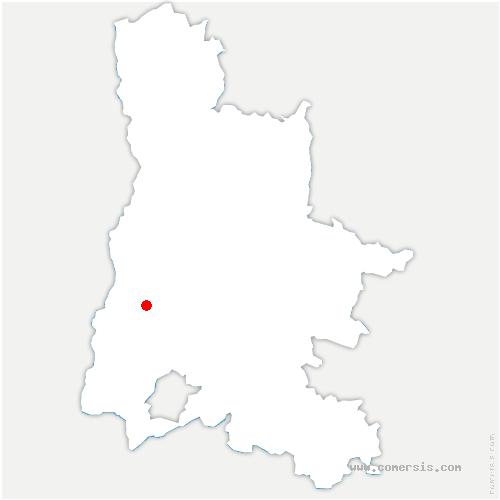 carte de localisation de Bonlieu-sur-Roubion