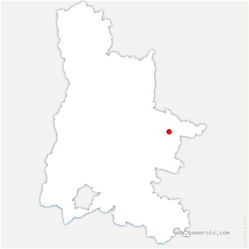 carte de localisation de Boulc