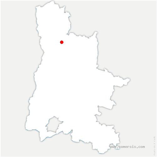 carte de localisation de Bourg-de-Péage