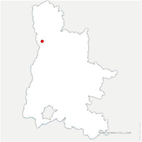 carte de localisation de Bourg-lès-Valence