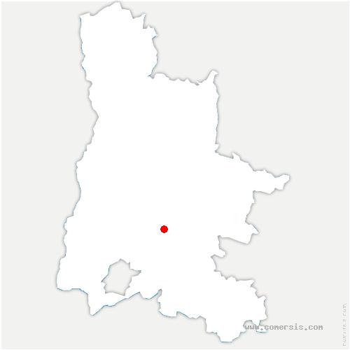 carte de localisation de Bouvières