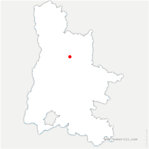carte de localisation de Chaffal