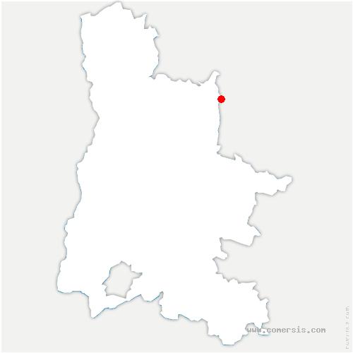 carte de localisation de Chapelle-en-Vercors