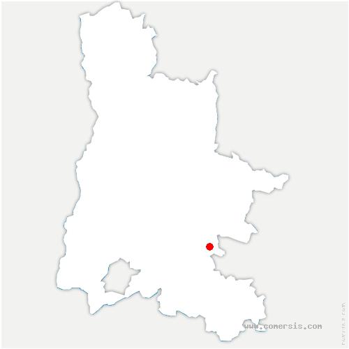 carte de localisation de Charce