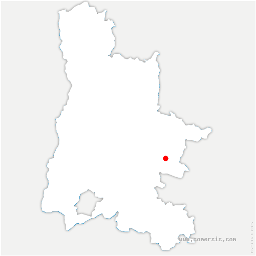 carte de localisation de Charens