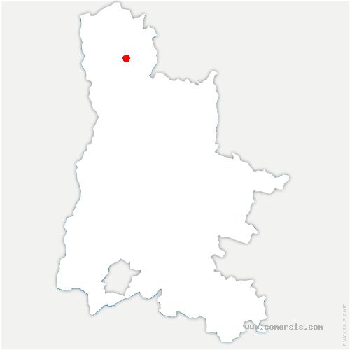 carte de localisation de Charmes-sur-l'Herbasse