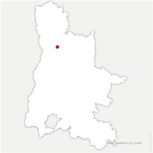carte de localisation de Charpey