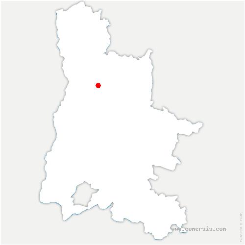 carte de localisation de Châteaudouble