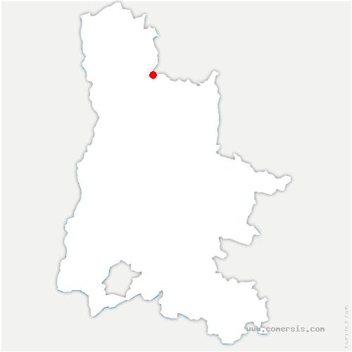carte de localisation de Châtillon-Saint-Jean