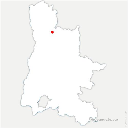 carte de localisation de Chatuzange-le-Goubet