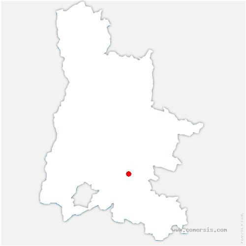 carte de localisation de Chaudebonne