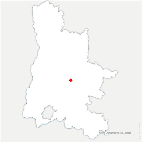 carte de localisation de Chaudière