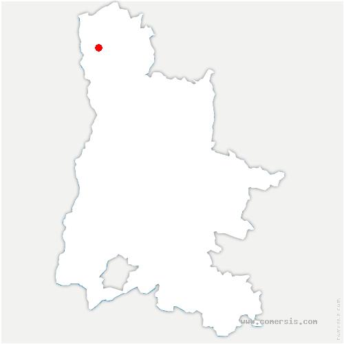 carte de localisation de Claveyson