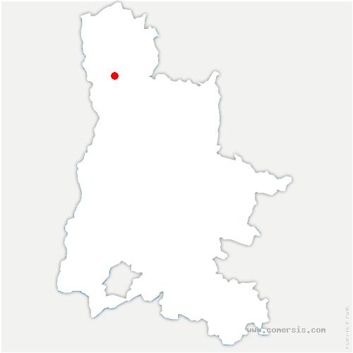 carte de localisation de Clérieux