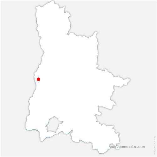 carte de localisation de Cliousclat